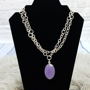 Sigrid Olsen Silver Chain Purple Pendant Necklace
